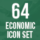 64 Economic Icons Set - GraphicRiver Item for Sale