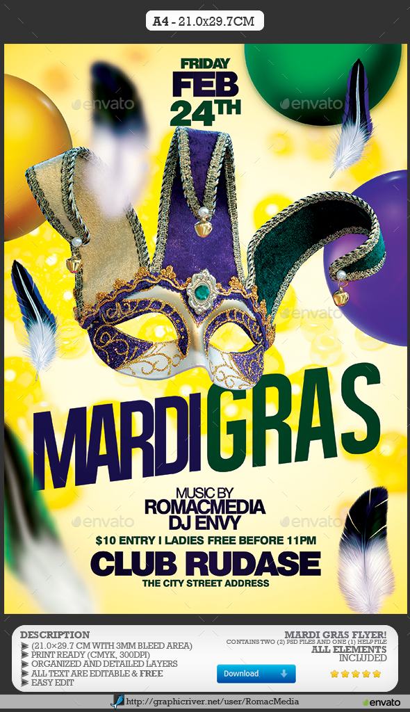 Mardi Gras Party - Clubs & Parties Events