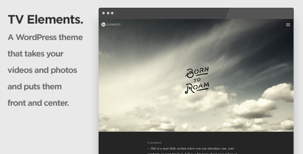 TV Elements Video WordPress Theme for Videographers and Visual  Artists - Portfolio Creative