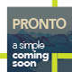 Pronto - A Simple Coming Soon - ThemeForest Item for Sale