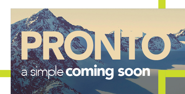 Pronto – A Simple Coming Soon