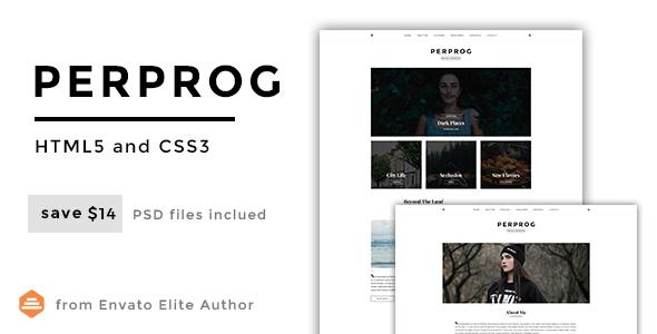 Perprog – Personal Blog HTML5 Template