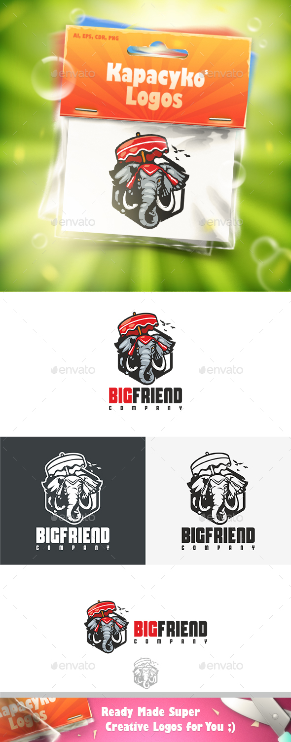 Big Friend Logo - Animals Logo Templates
