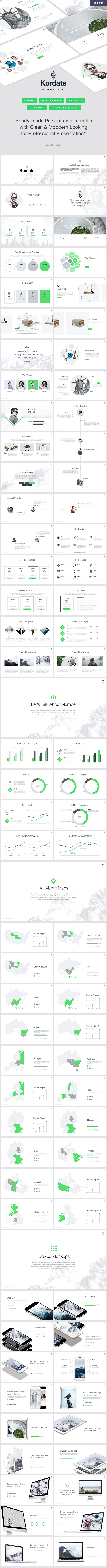 Kordate - Modern and Professional Powerpoint Template - PowerPoint Templates Presentation Templates