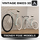 Vintage Bikes 3D - 3DOcean Item for Sale