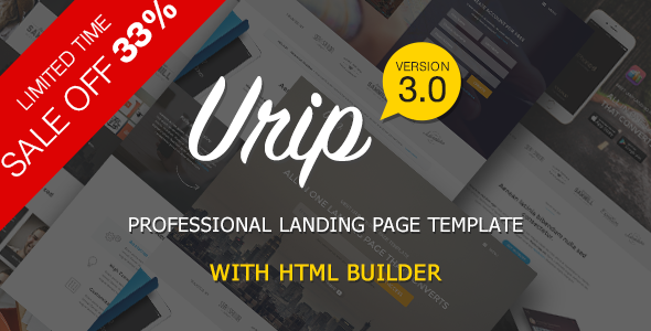 Urip – Professional Landing Page With HTML Builder