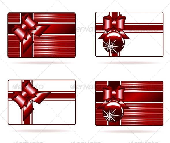 Vector llustration of the gift cards - Seasons/Holidays Conceptual