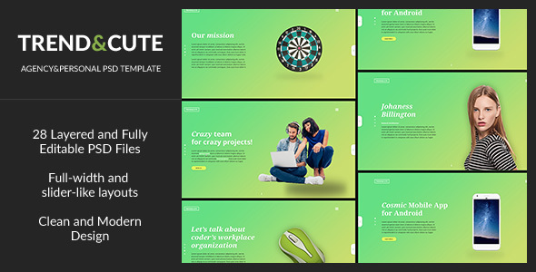 Trend&Cute — Modern and Creative Personal/Agency PSD Template