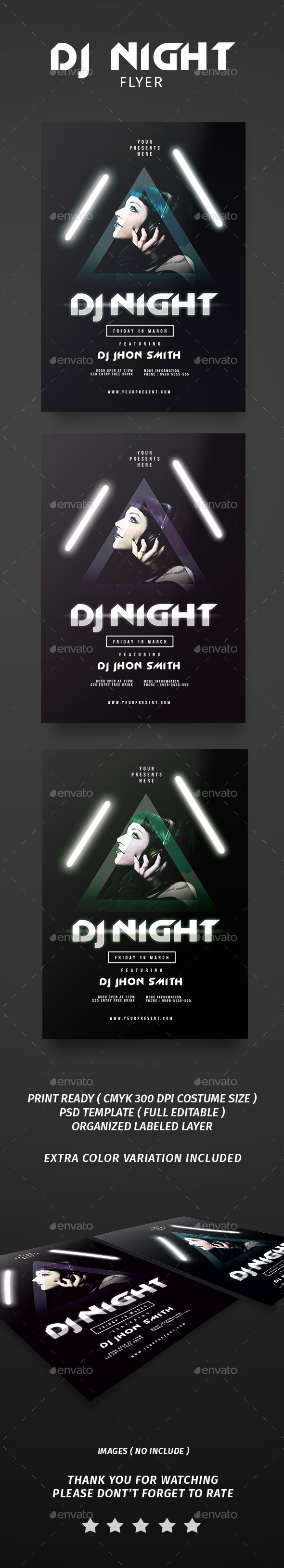 Dj Night Flyer - Flyers Print Templates