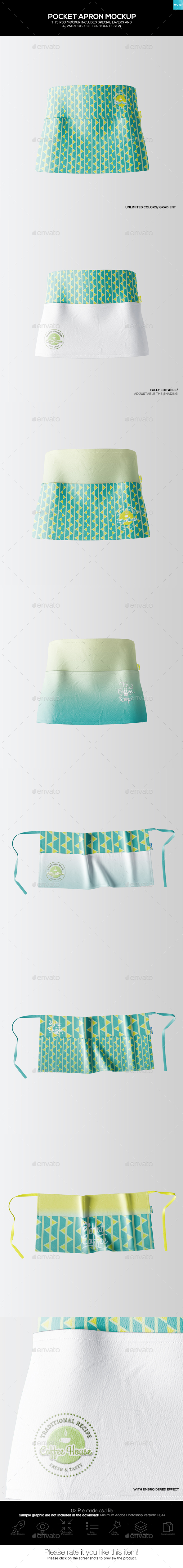 Pocket Apron Mockup - Miscellaneous Apparel