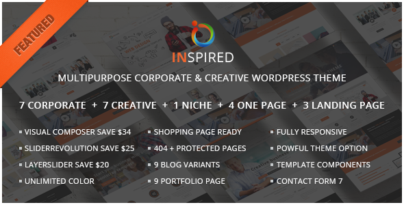 Inspired – Multipurpose Corporate and Creative Bootstrap WordPress Theme