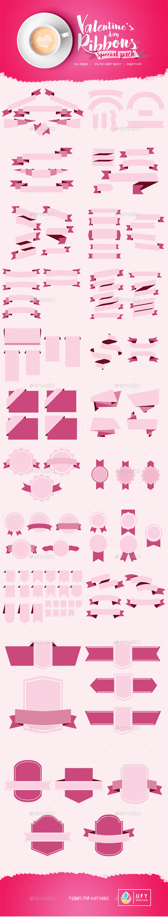 Ribbons Special Velentine's Day - Valentines Seasons/Holidays