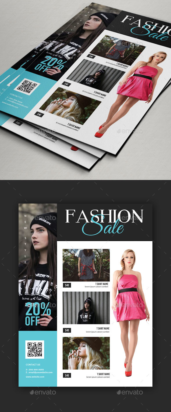 Fashion Ad Magazine or Flyer Template - Commerce Flyers