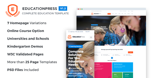 EducationPress - Complete Education Template - Corporate Site Templates