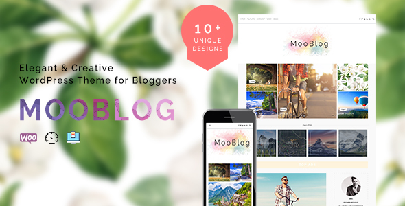 MooBlog –  Simple & Elegant Blog for Creative Bloggers