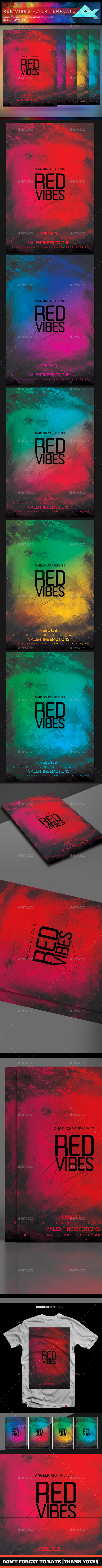 Red Vibes Flyer Template - Flyers Print Templates