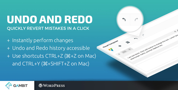 Undo and Redo for WPBakery Page Builder (formerly Visual Composer) - CodeCanyon Item for Sale