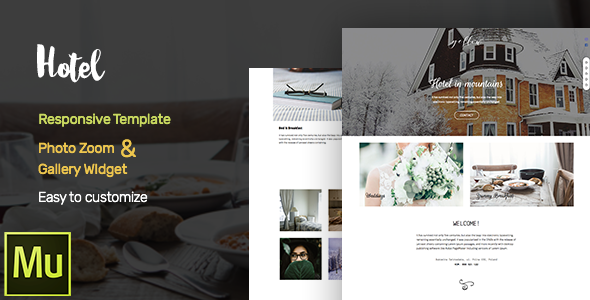Hotel -  Adobe Muse CC Responsive Template + Gallery Widget - Corporate Muse Templates