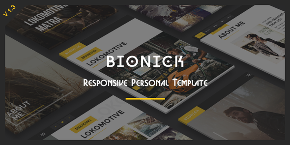 Bionick - Responsive Personal Portfolio Template - Personal Site Templates