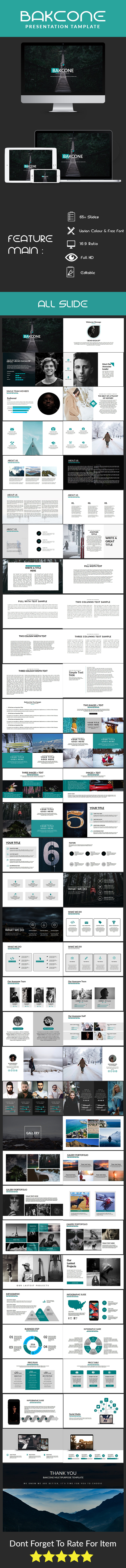 Backone Mulptipurpose Template - PowerPoint Templates Presentation Templates