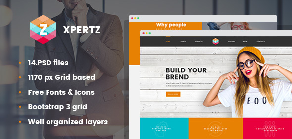 XpertZ - Corporate & Business Company PSD Template - Corporate PSD Templates