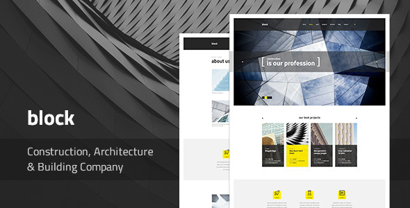 Block — Construction, Architecture, Building Company PSD Template - Business Corporate