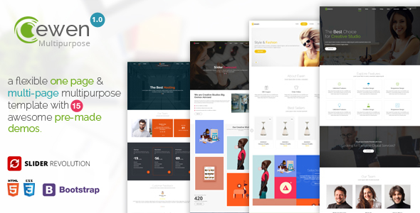 Ewen – One Page & Multi Page