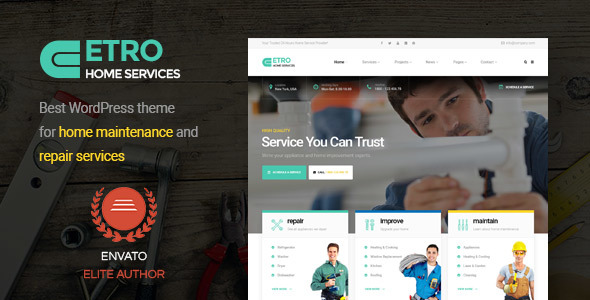 Etro – Home Maintenance, Repair and Improvement Services WordPress Theme