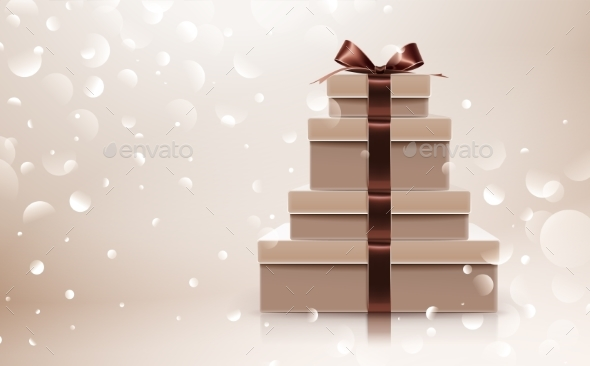 Gift Collection with Brown Bow - Birthdays Seasons/Holidays