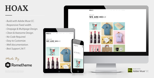 HOAX - Creative Multipurpose Muse Template - Creative Muse Templates