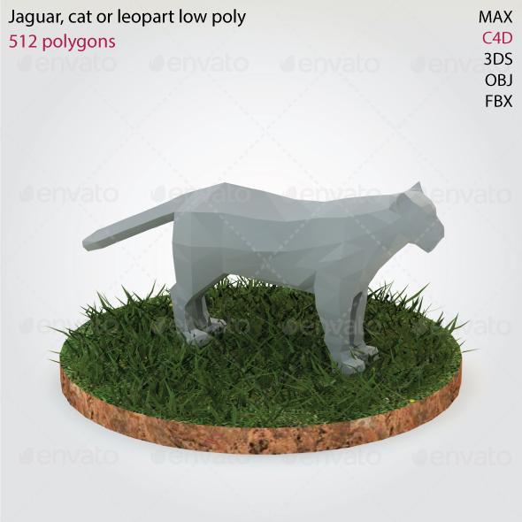 Jaguar - Low Poly - 3DOcean Item for Sale