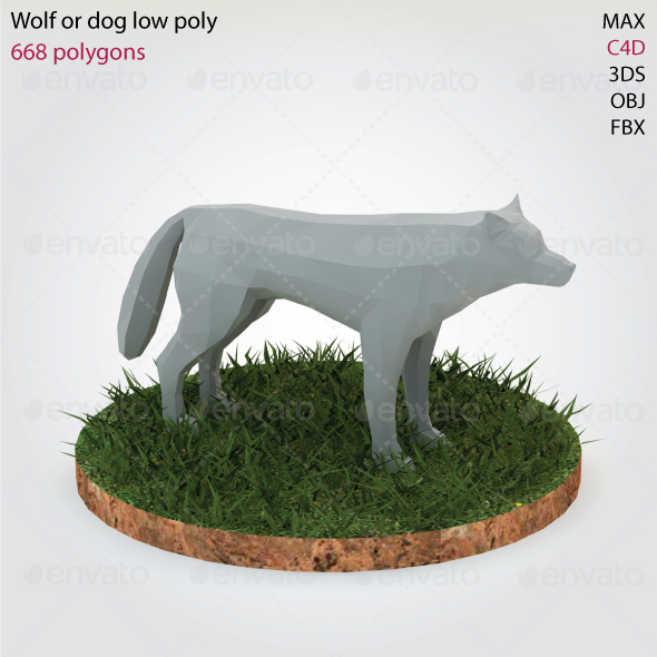 Wolf - Low Poly - 3DOcean Item for Sale