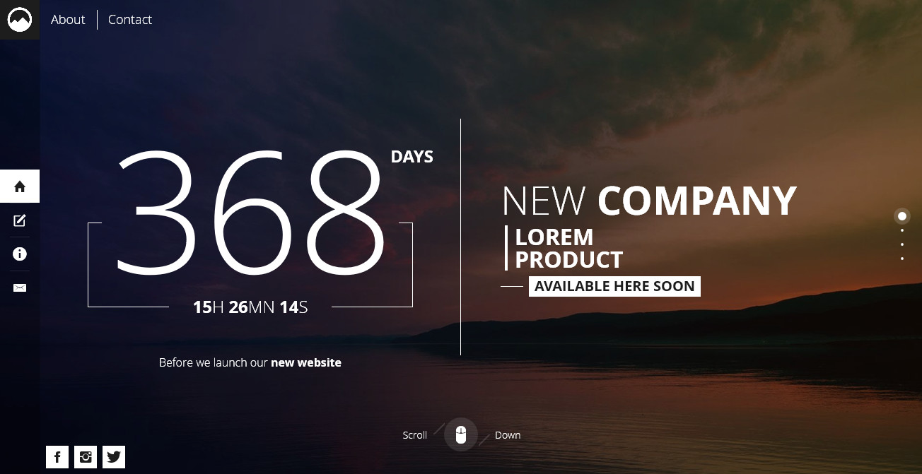 Timex creative template for coming soon page by mivfx themeforest default style style1 pronofoot35fo Image collections