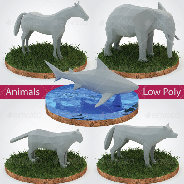 Animals Low Poly - Vol. 1 - 3DOcean Item for Sale