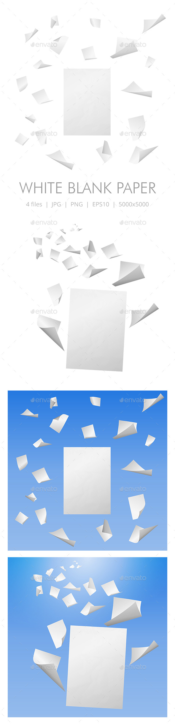 White Blank Paper Sheets - Backgrounds Decorative