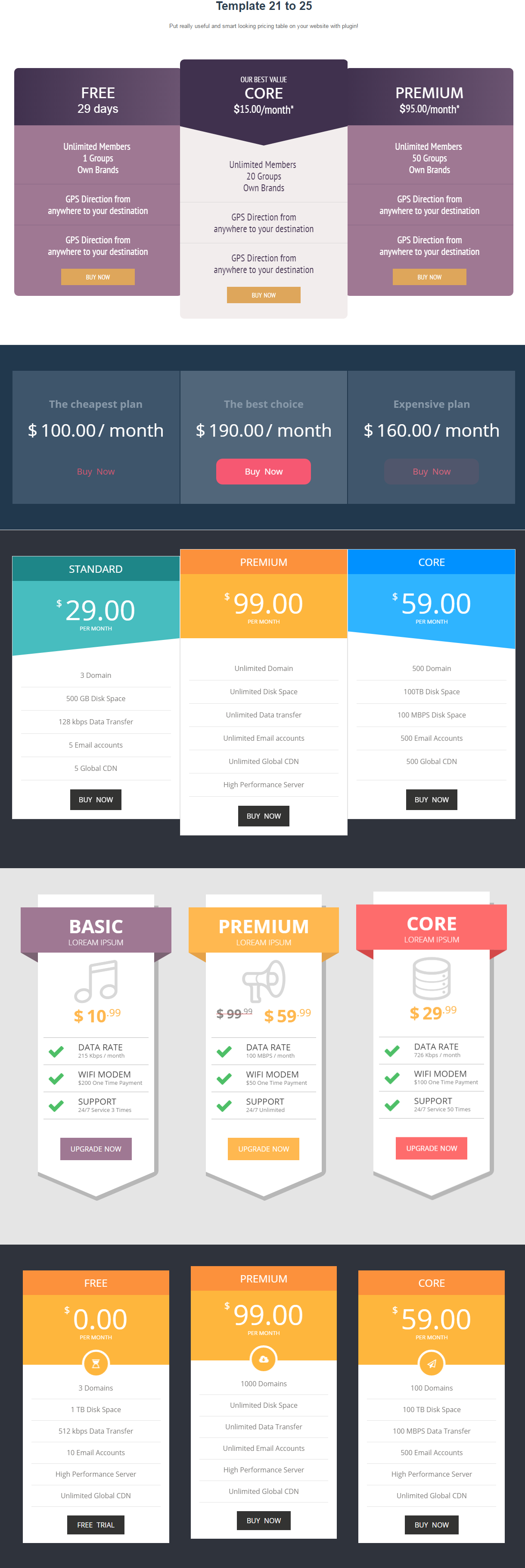 AP Pricing Tables - Responsive Pricing Table Builder Plugin for ...