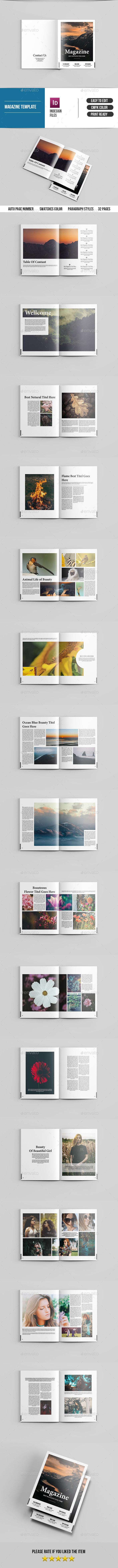 Minimal Magazine Template-V18 - Magazines Print Templates
