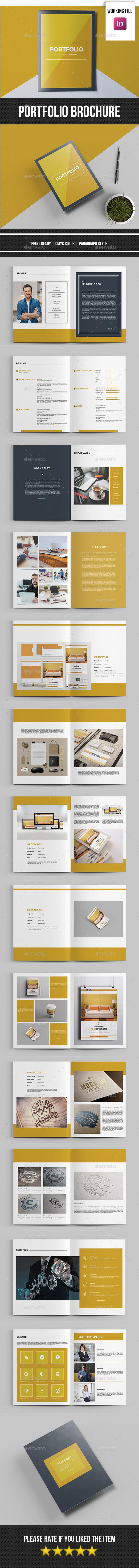 Minimal Portfolio Template-V415 - Portfolio Brochures