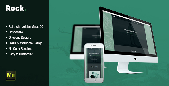 Rock – CV Resume Personal Muse Template