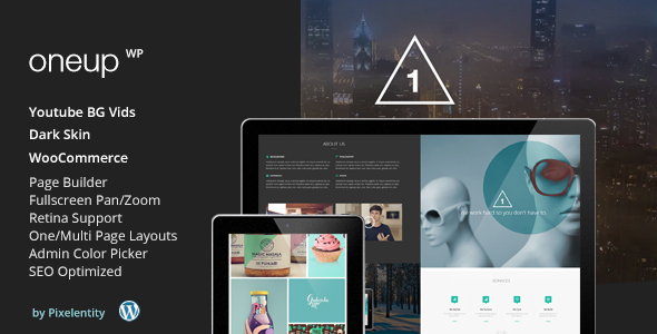 OneUp - One Page Parallax Retina WordPress Theme - Creative WordPress