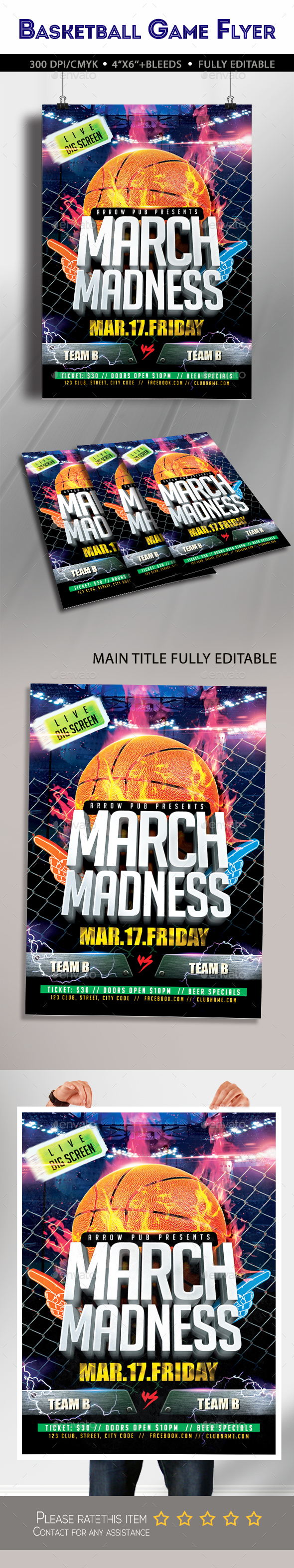 Basketball March Madness Flyer - Clubs & Parties Events