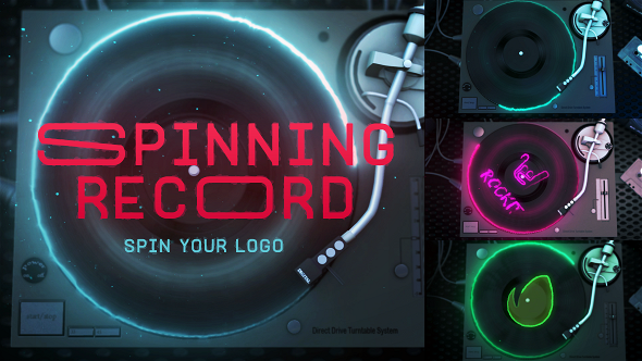 spinning record reveal by luacsvfx videohive. Black Bedroom Furniture Sets. Home Design Ideas