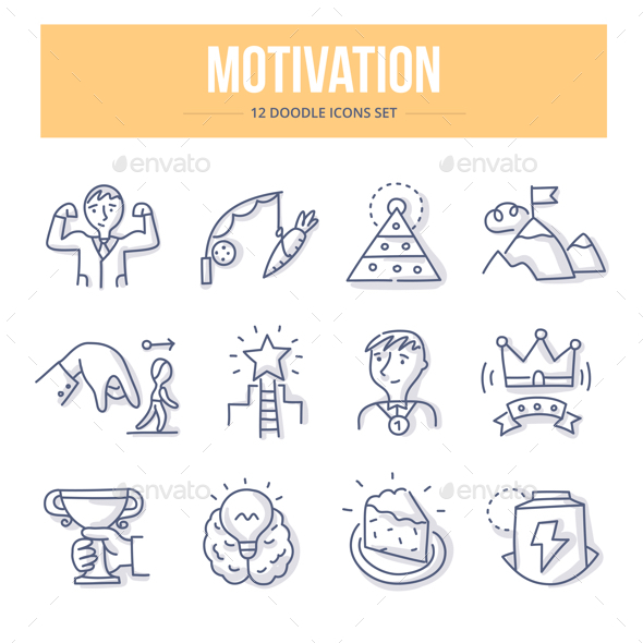 Motivation Doodle Icons - Business Icons