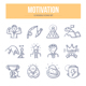 Motivation Doodle Icons - GraphicRiver Item for Sale