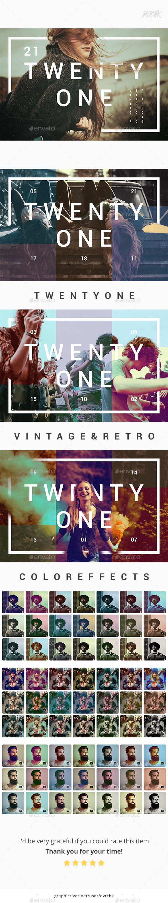 21 | Vintage & Retro Color Effects - Photo Templates Graphics