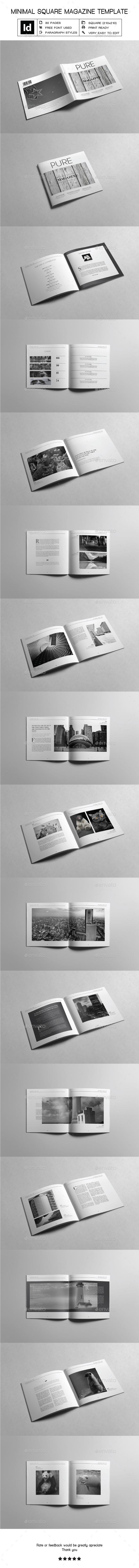 Minimal Square Magazine Template II - Magazines Print Templates