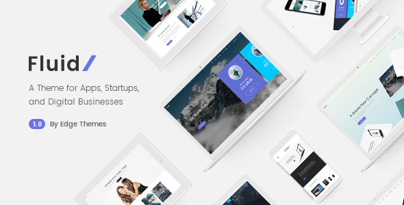Image of Fluid - A Theme for Apps, Startups, and Digital Businesses