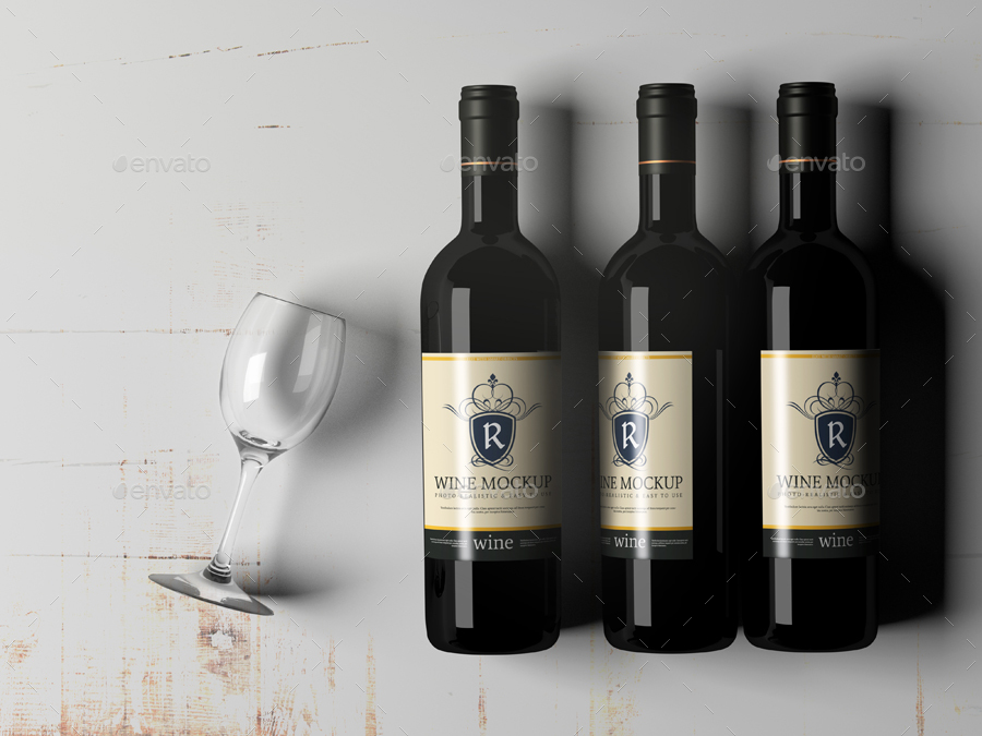 Wine Bottle Mock Up By Pmvch Graphicriver