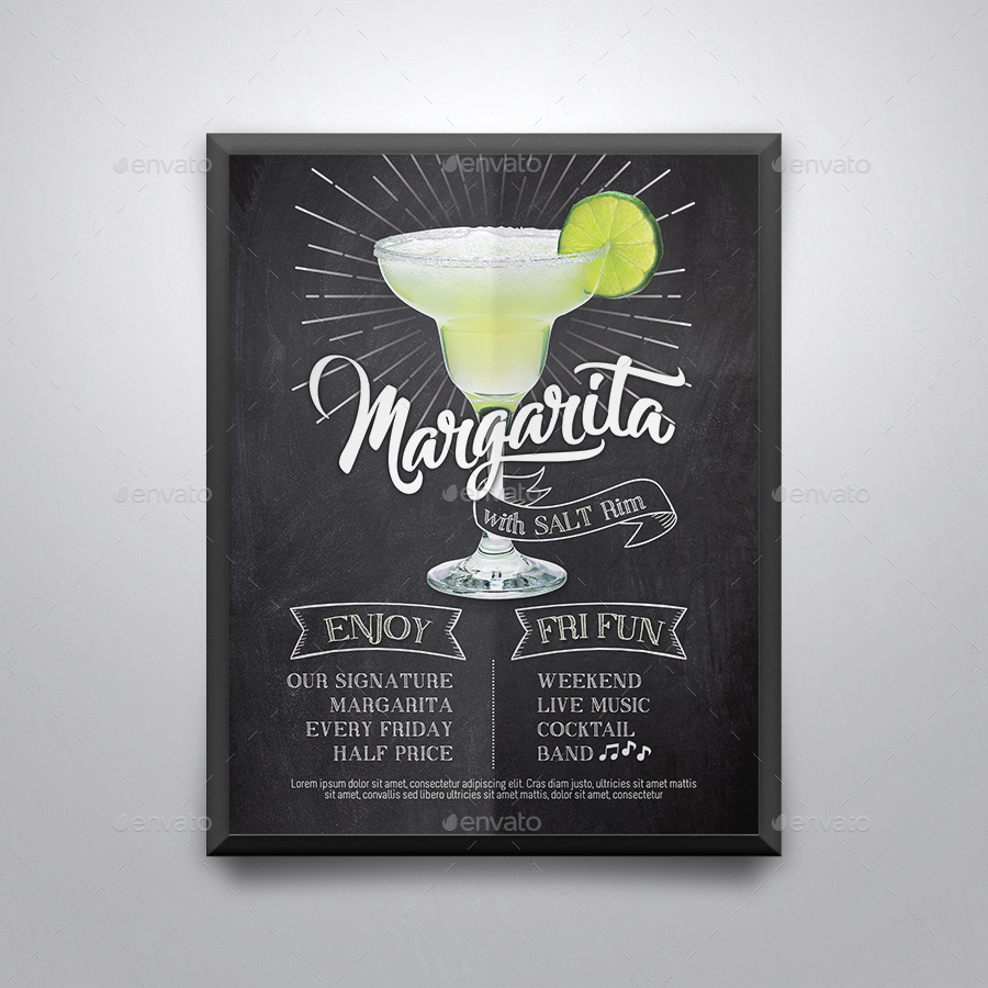 Margarita Cocktail Flyer Template by tunagaga | GraphicRiver