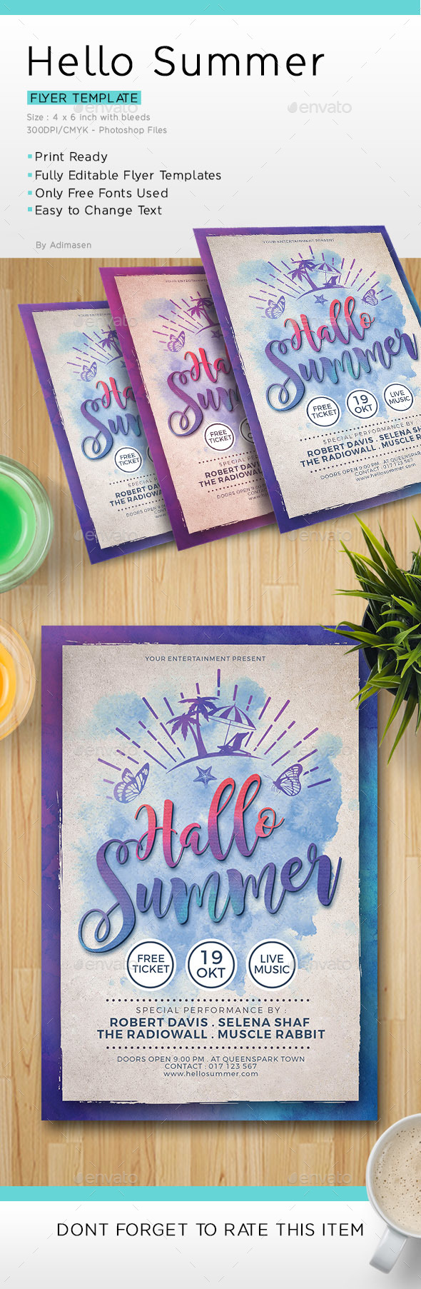 Hallo Summer Flyer Template - Events Flyers